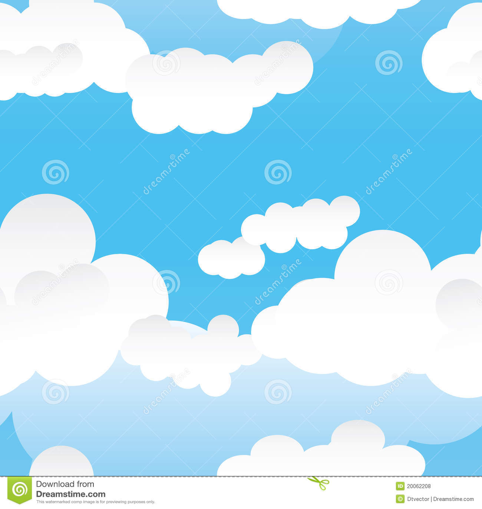 Naadloze pattern_eps van de wolk