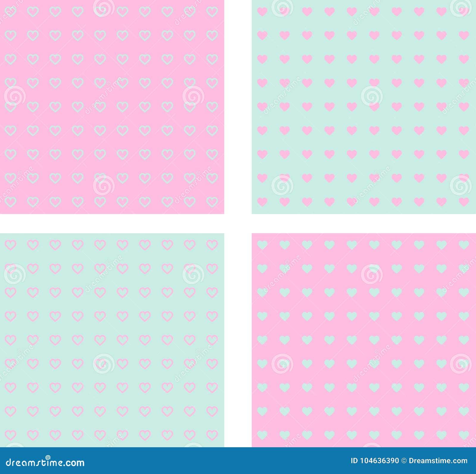 Download Naadloze Reeks Van De Dag Van Valentine ` S Vector Illustratie - Illustratie bestaande uit stof, illustratie: 104636390