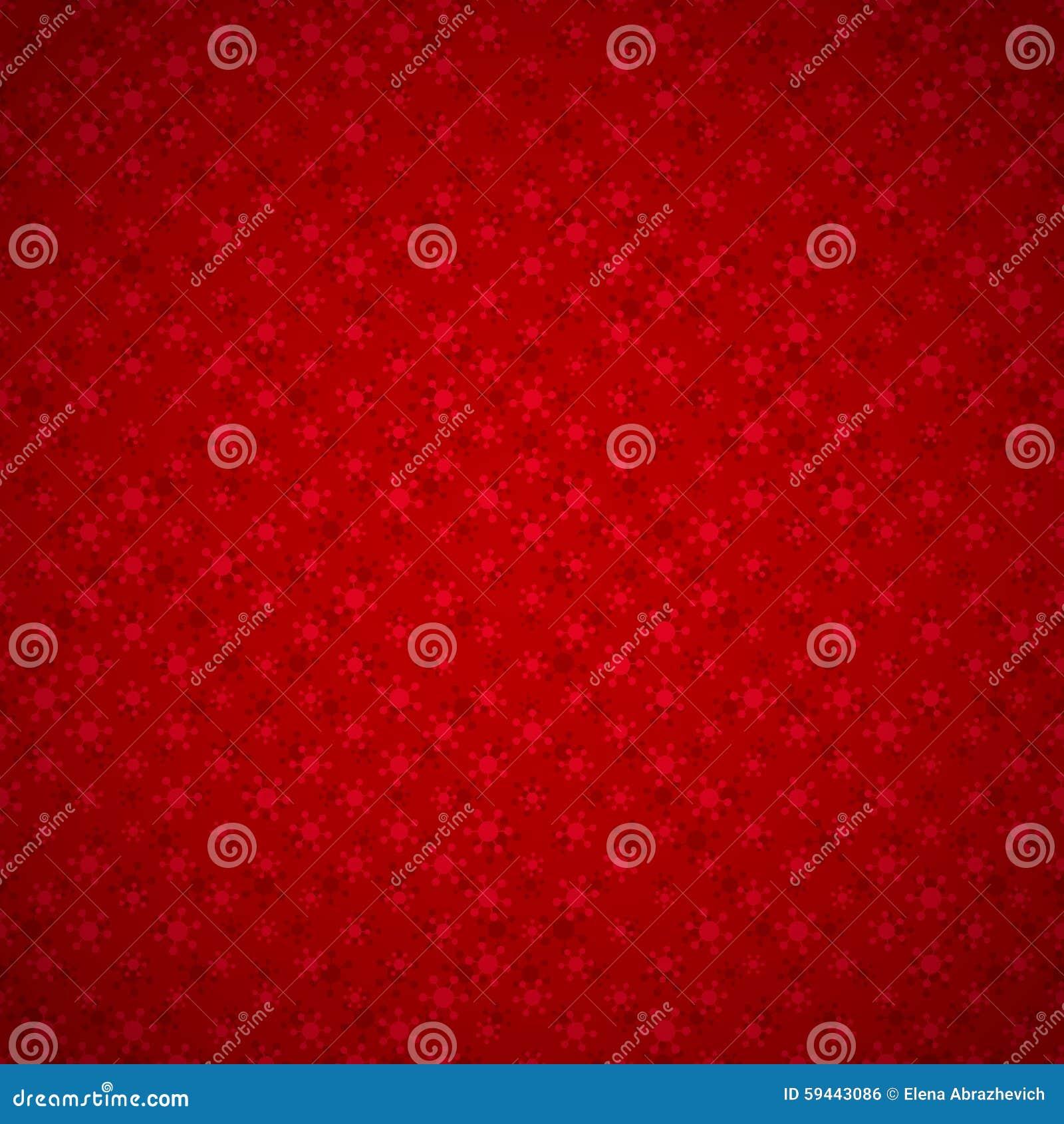 Naadloze rode achtergrond met sneeuwvlokken