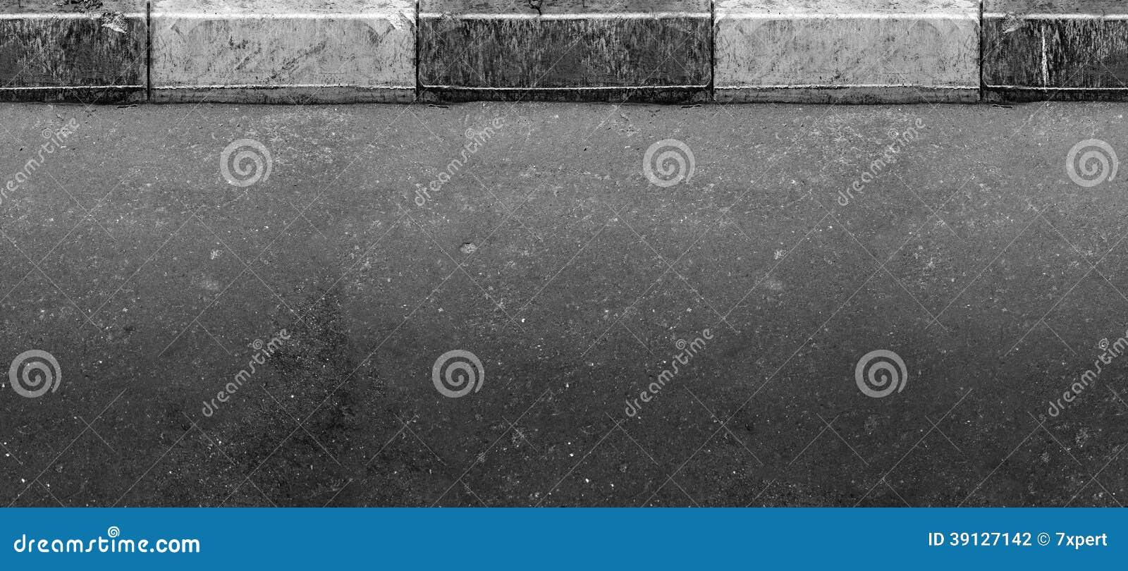 Naadloze (slechts horizontale) weg met grens