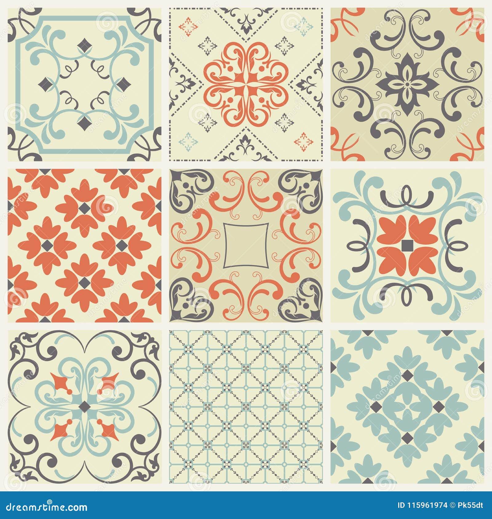 Naadloze tegel met kleurrijk lapwerk Uitstekend veelkleurig patroon Het eindeloze patroon kan voor keramische tegel, behang worde