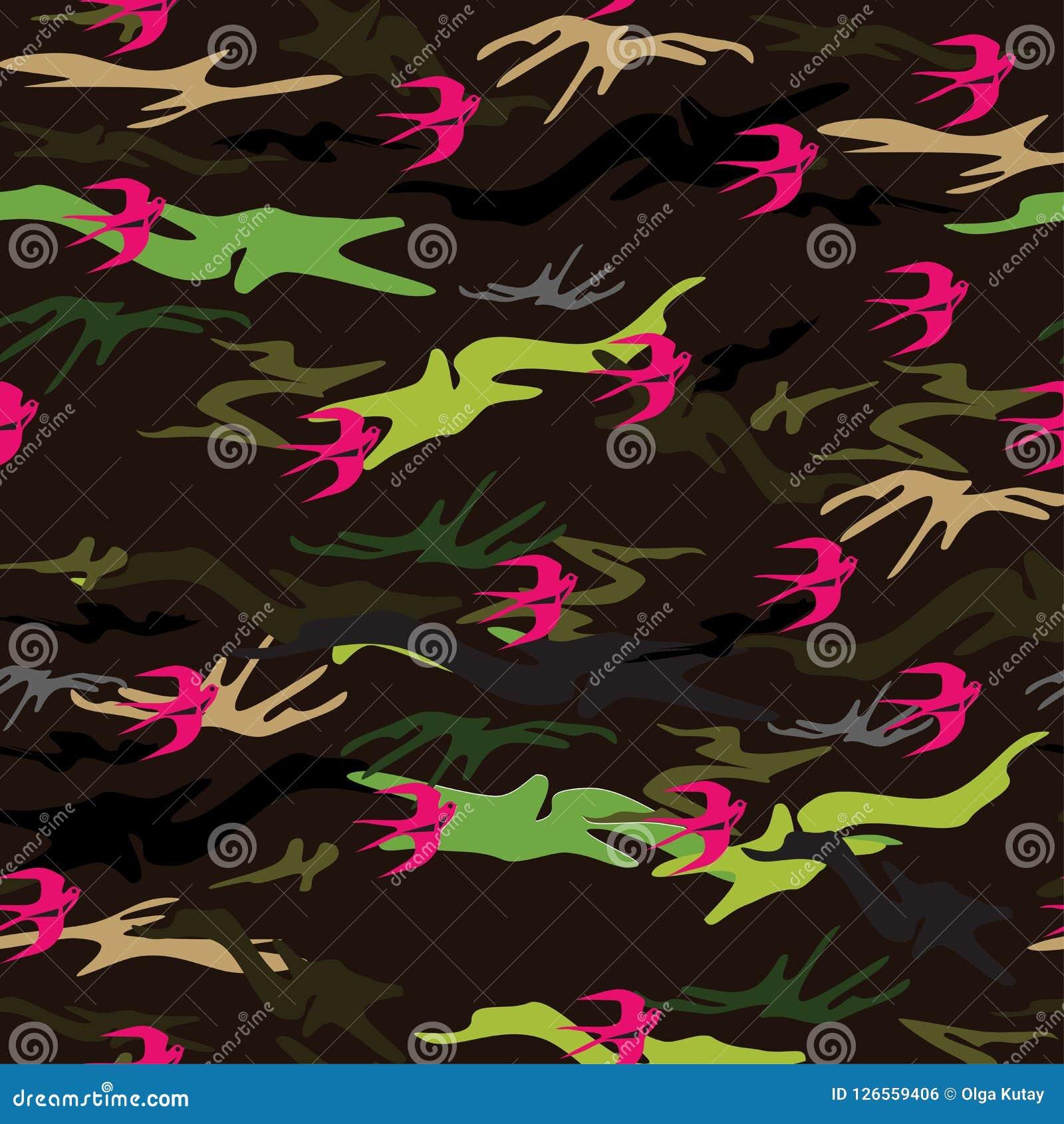 Naadloze textuur in de vorm van militair` s camouflage