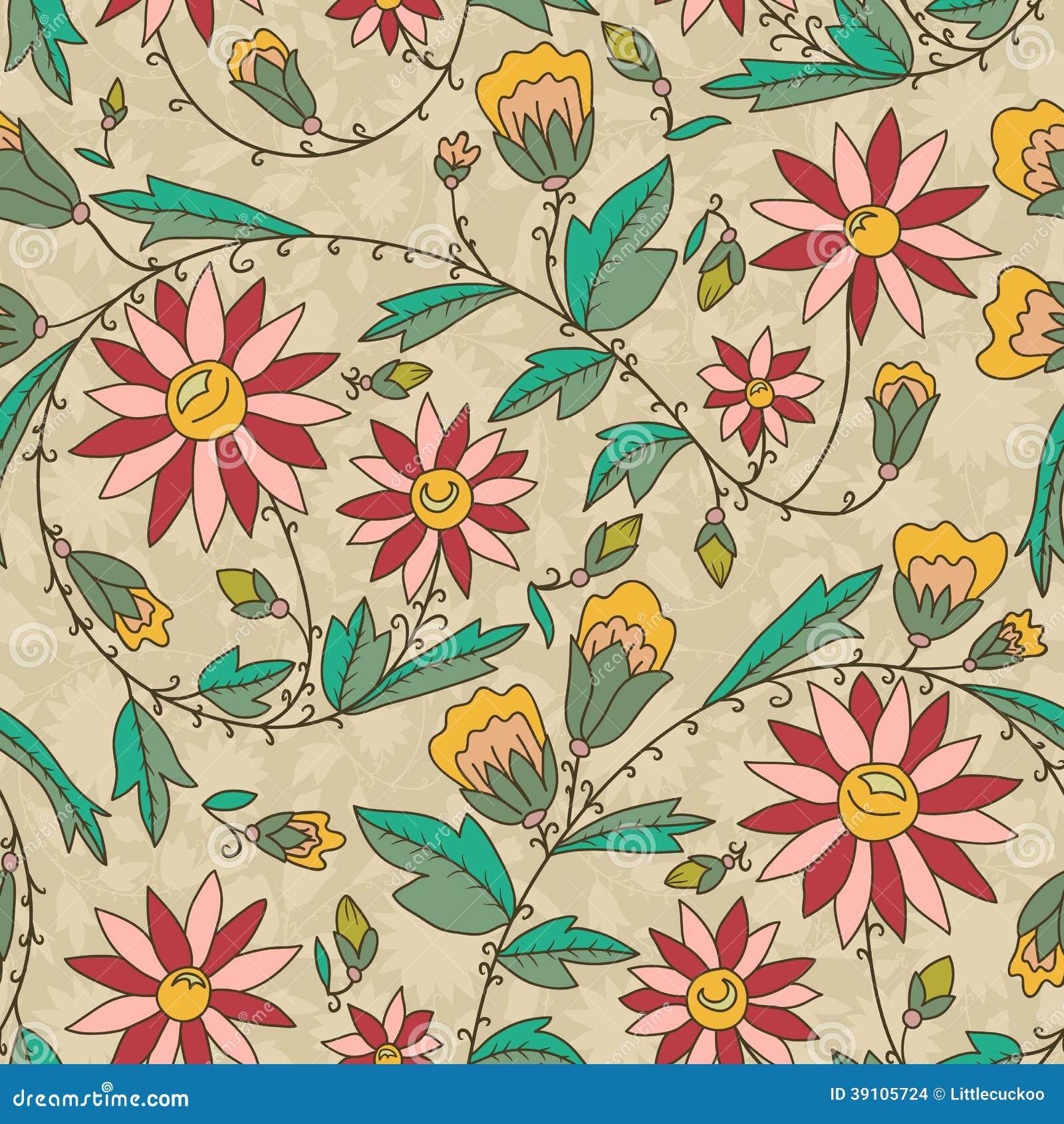 Naadloze textuur met bloemen