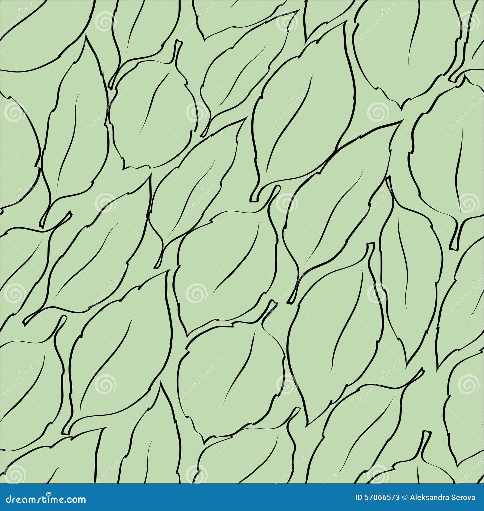 Naadloze vectorachtergrond met bladeren
