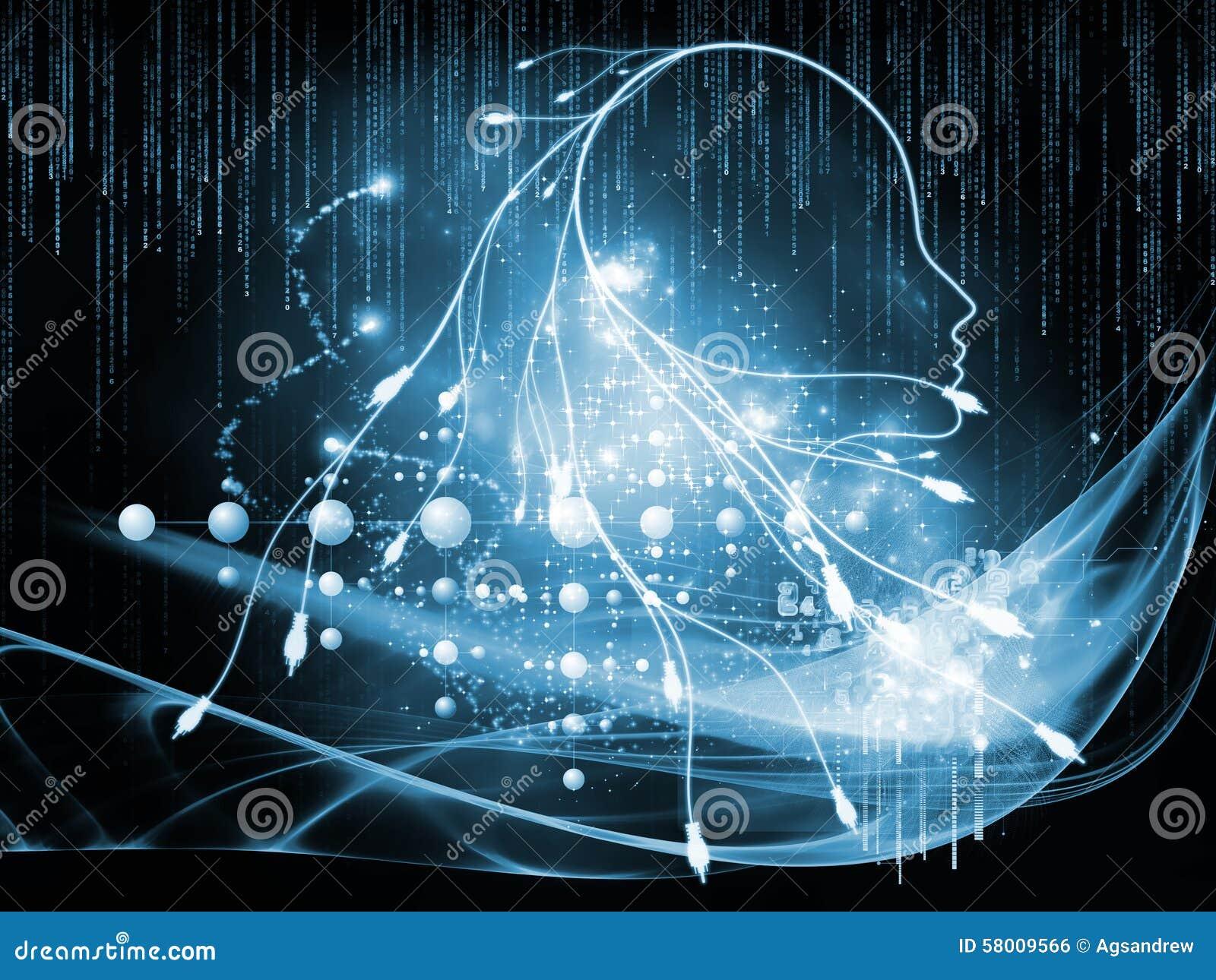 Naar Digitale Verbinding Stock Illustratie Illustratie