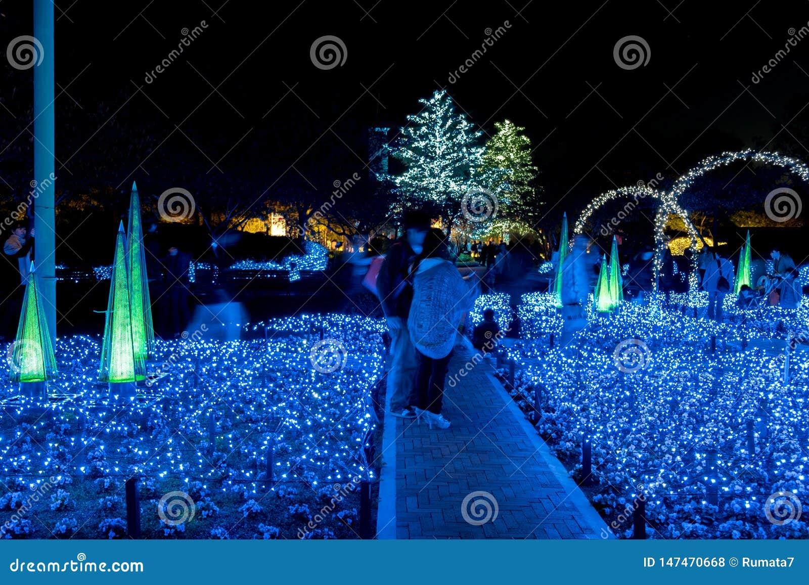 Nabana inte Sato, ljus festival p? Nagashima, Mie Prefecture