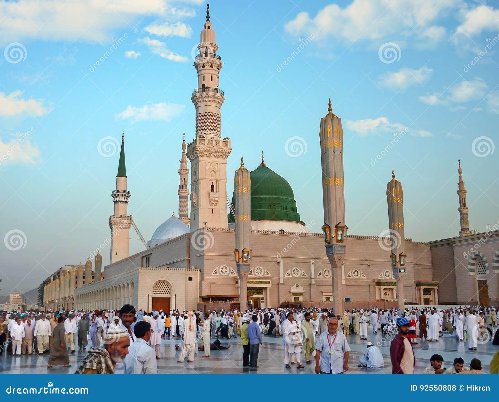 nabawi mosque medina saudi arabia editorial stock photo image of