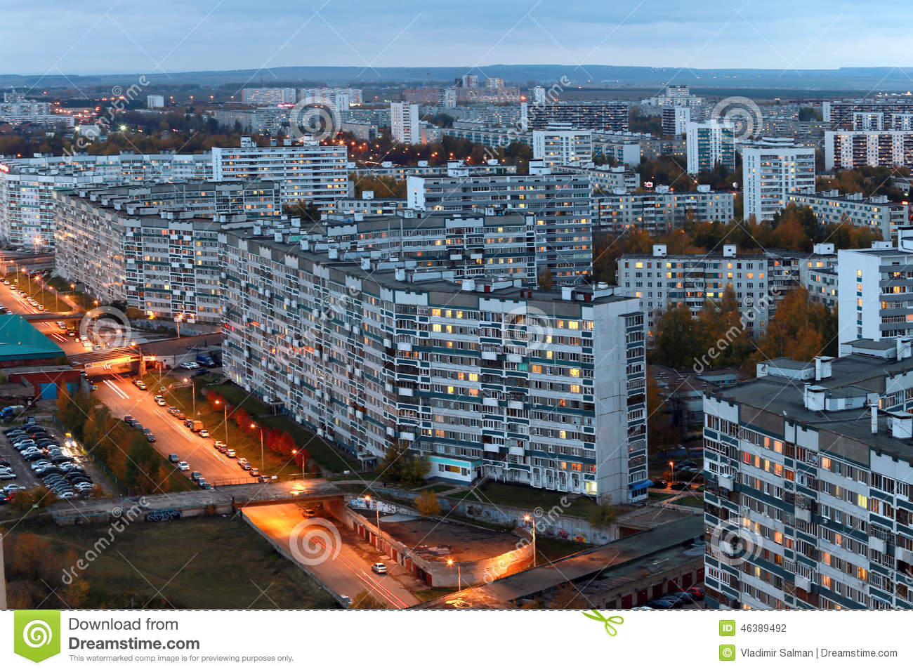 Naberezhnye Chelny Russia  city pictures gallery : Naberezhnye Chelny, Russia October 7, 2014: City Skyline with the ...