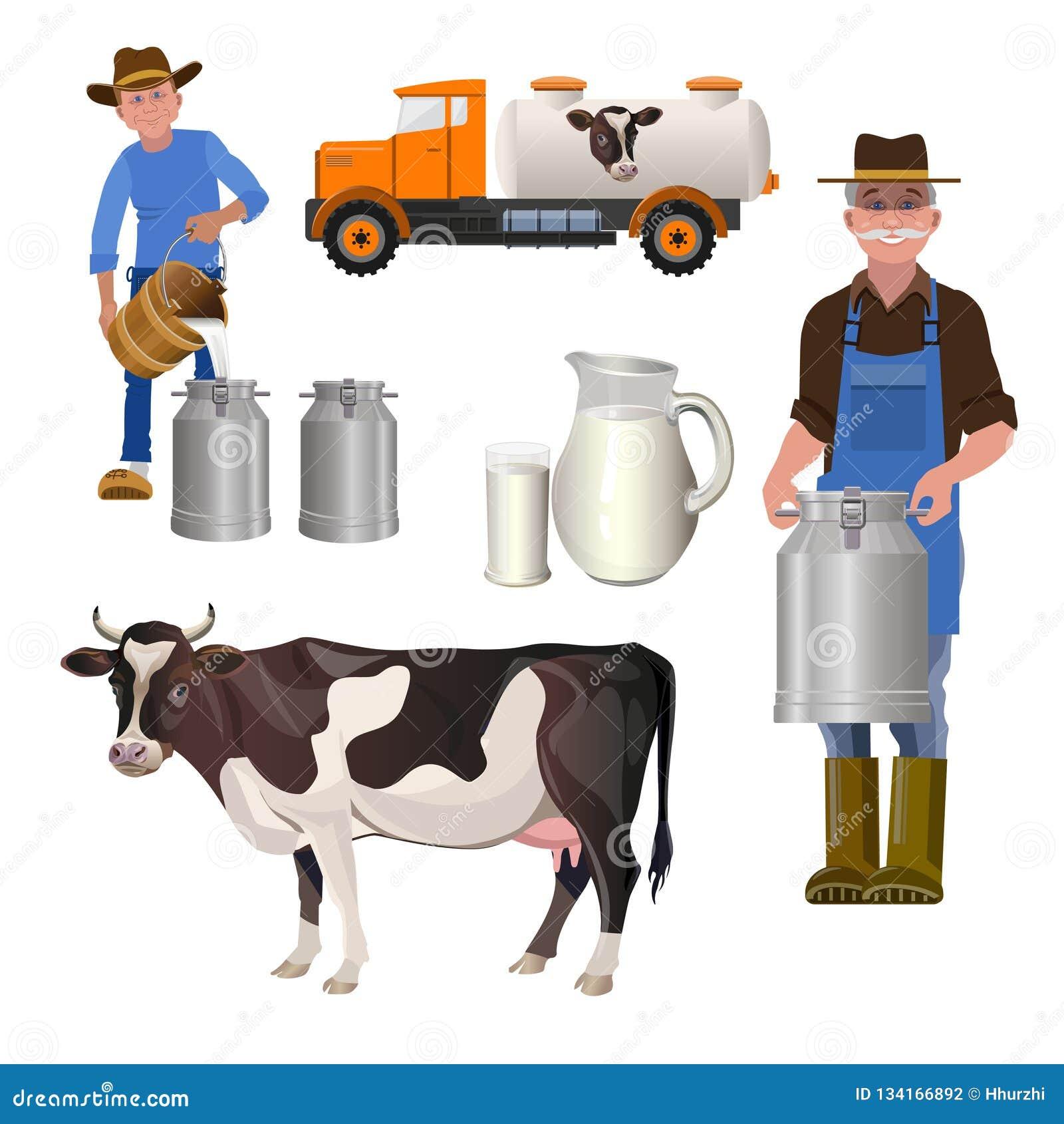 Nabiału gospodarstwa rolnego set