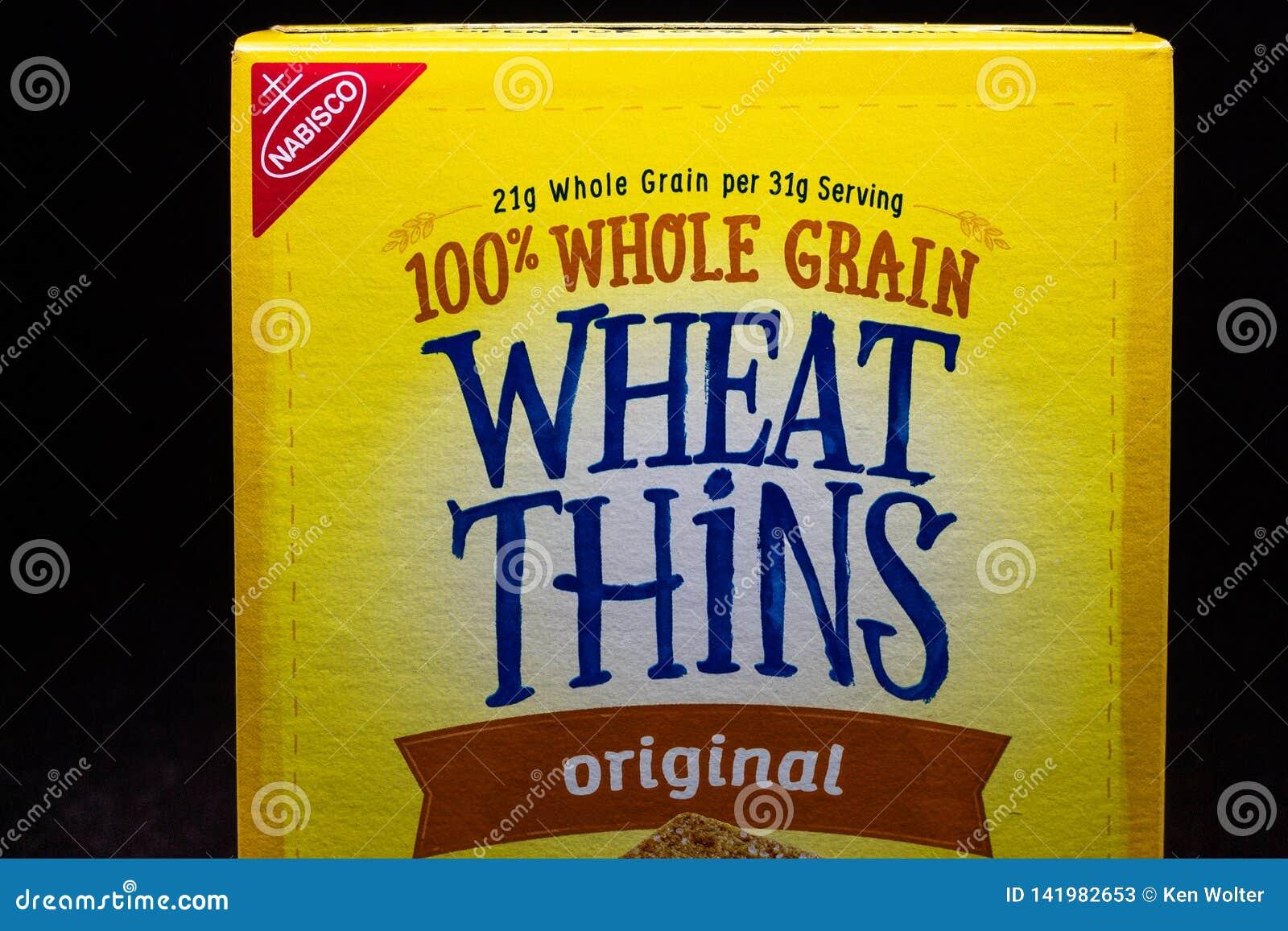 Nabisco Wheat Thins And Trademark Logo Editorial Stock Photo