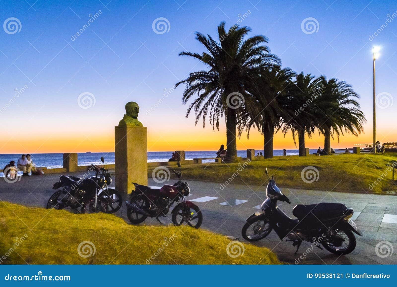 Nabrzeże park, Montevideo, Urugwaj