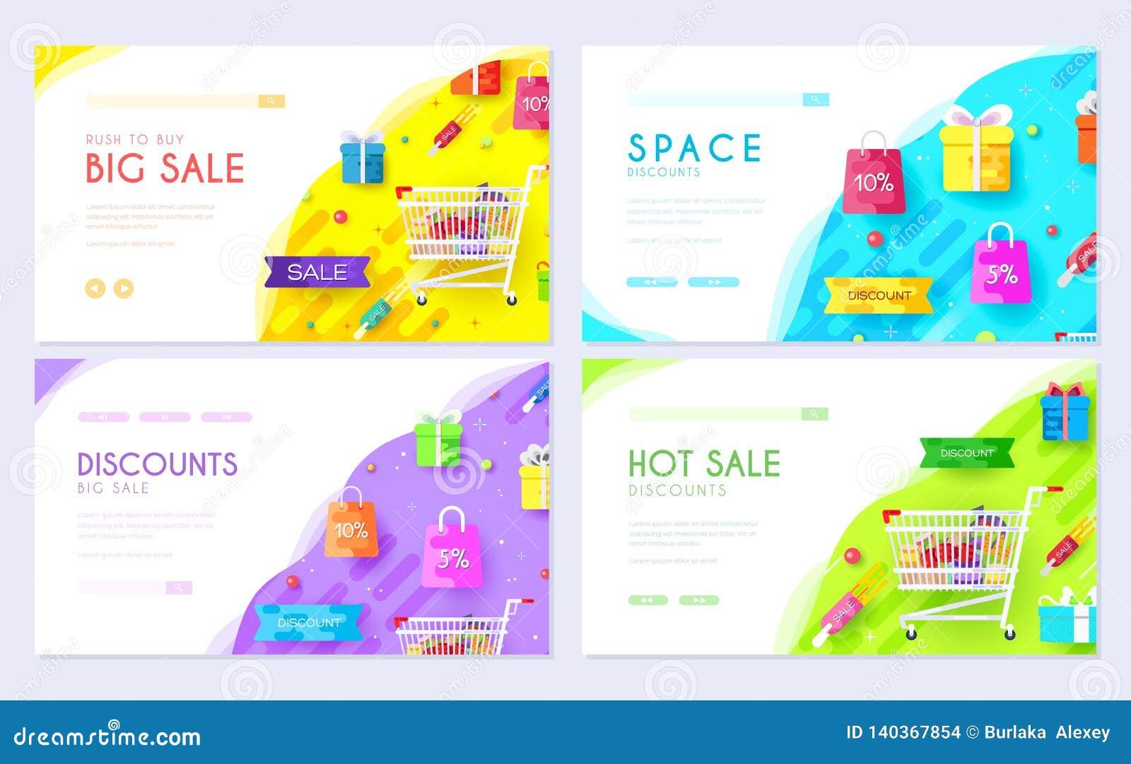 Nabywający w sklepowej informacji Zakupy broszurki karty set Biznesy dla sprzedaż szablonu flyear, sieć sztandar, ui