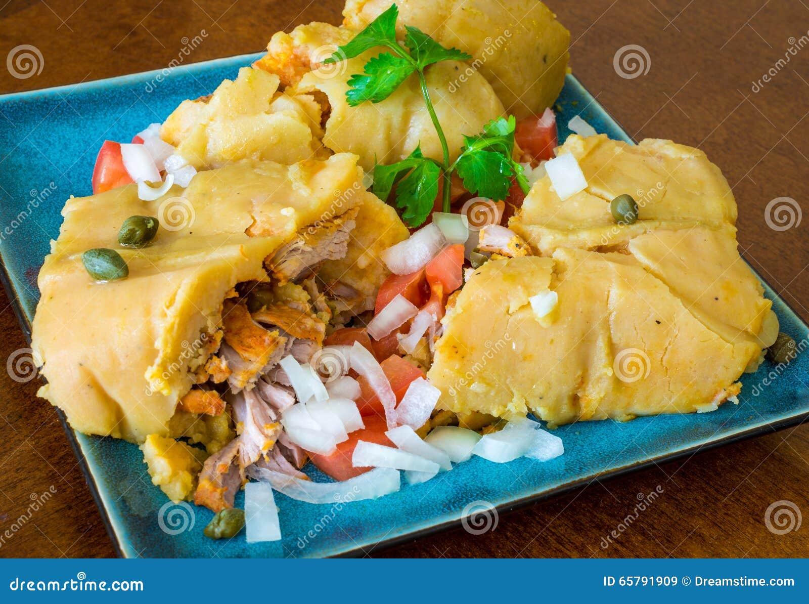 Nacatamal or tamal, a dish from Latin America