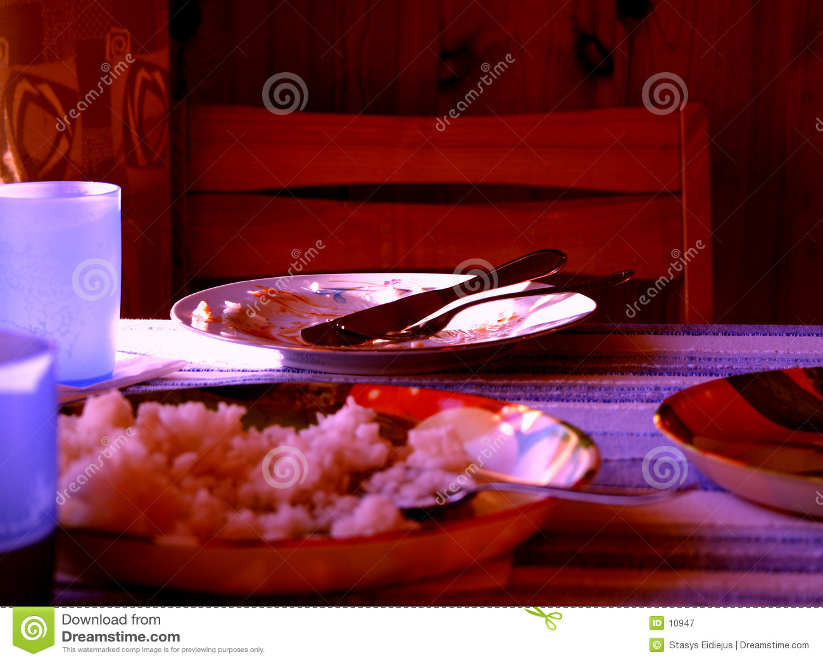 Nach Abendessen
