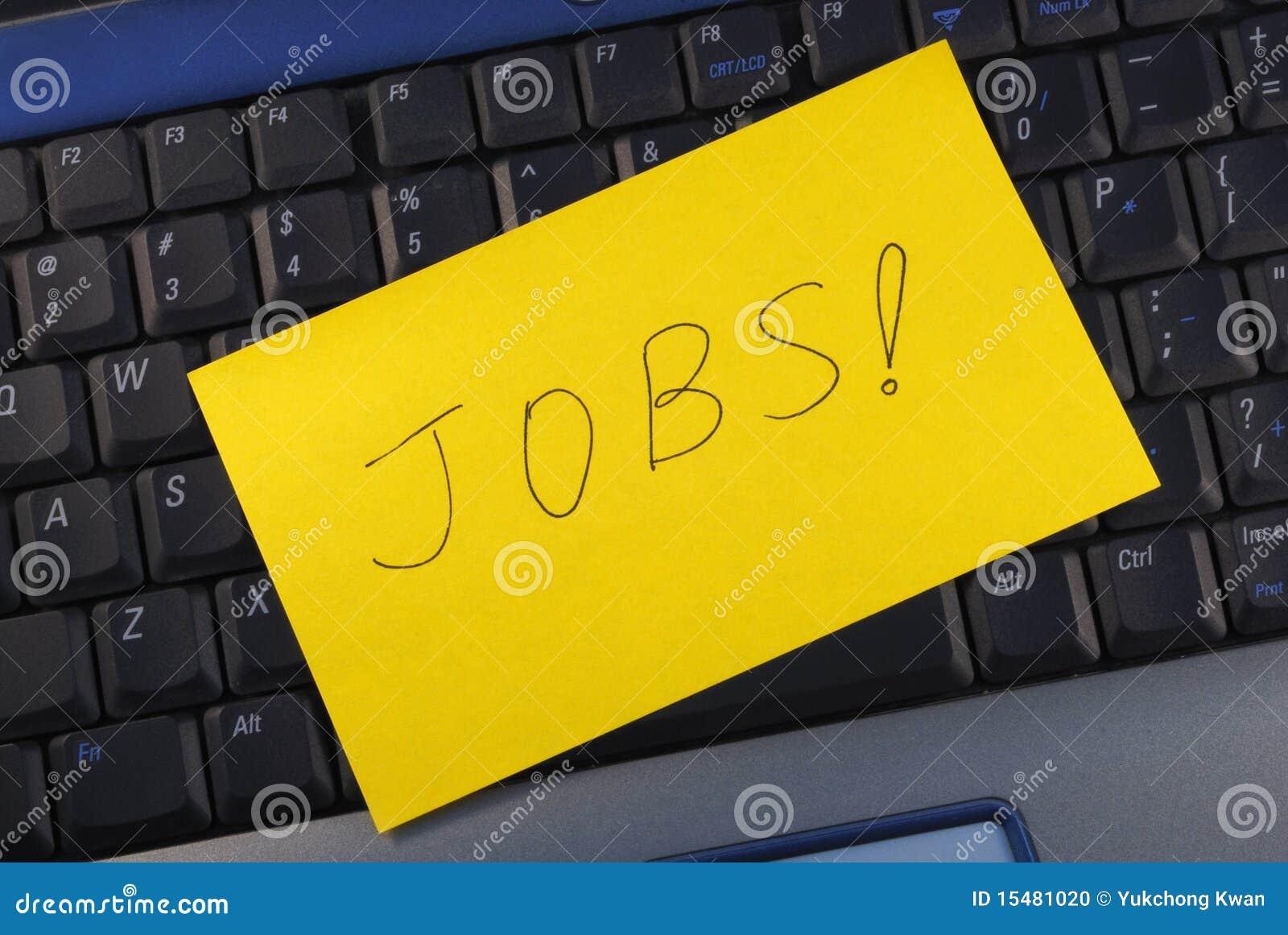Nach einem Job online suchen