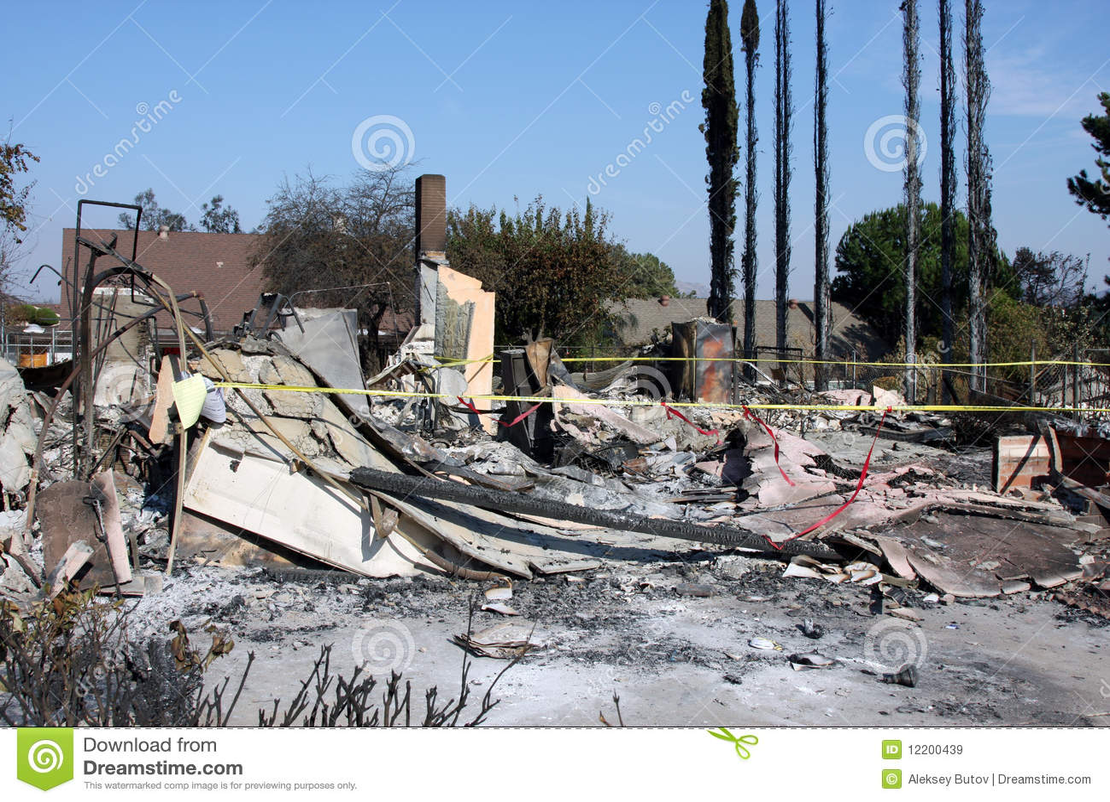 Nach Feuer in San Diego 2007