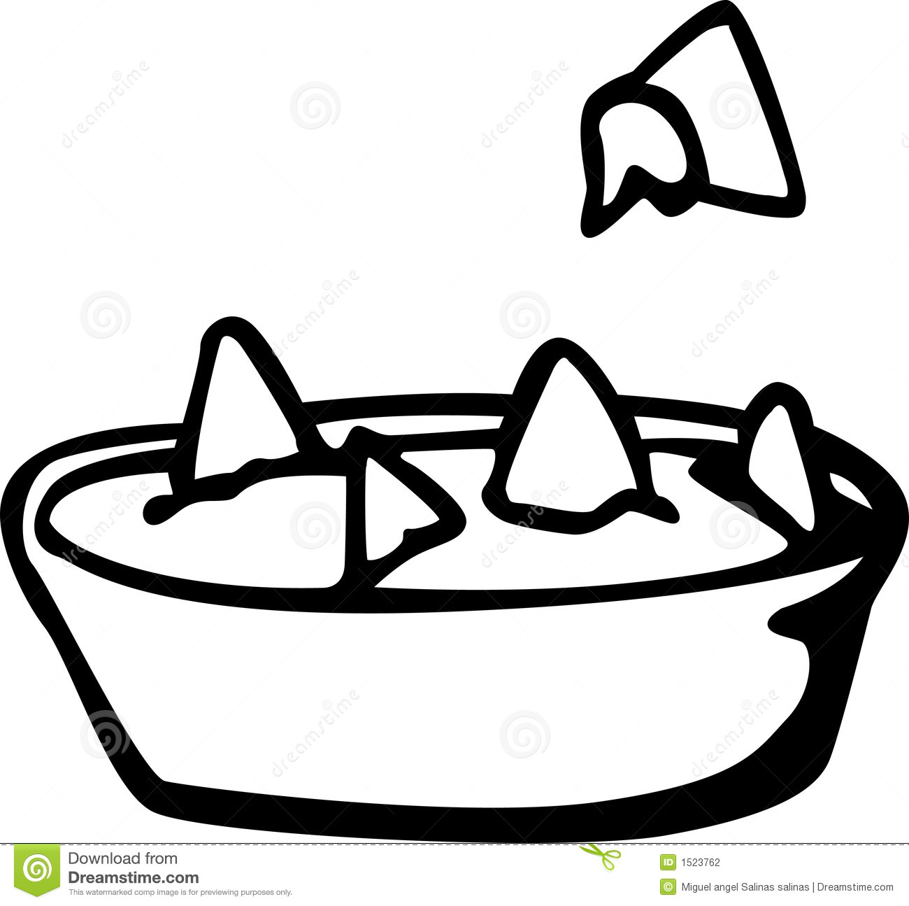 Nachos With Cheese Dish Vector Illustration Stock ...