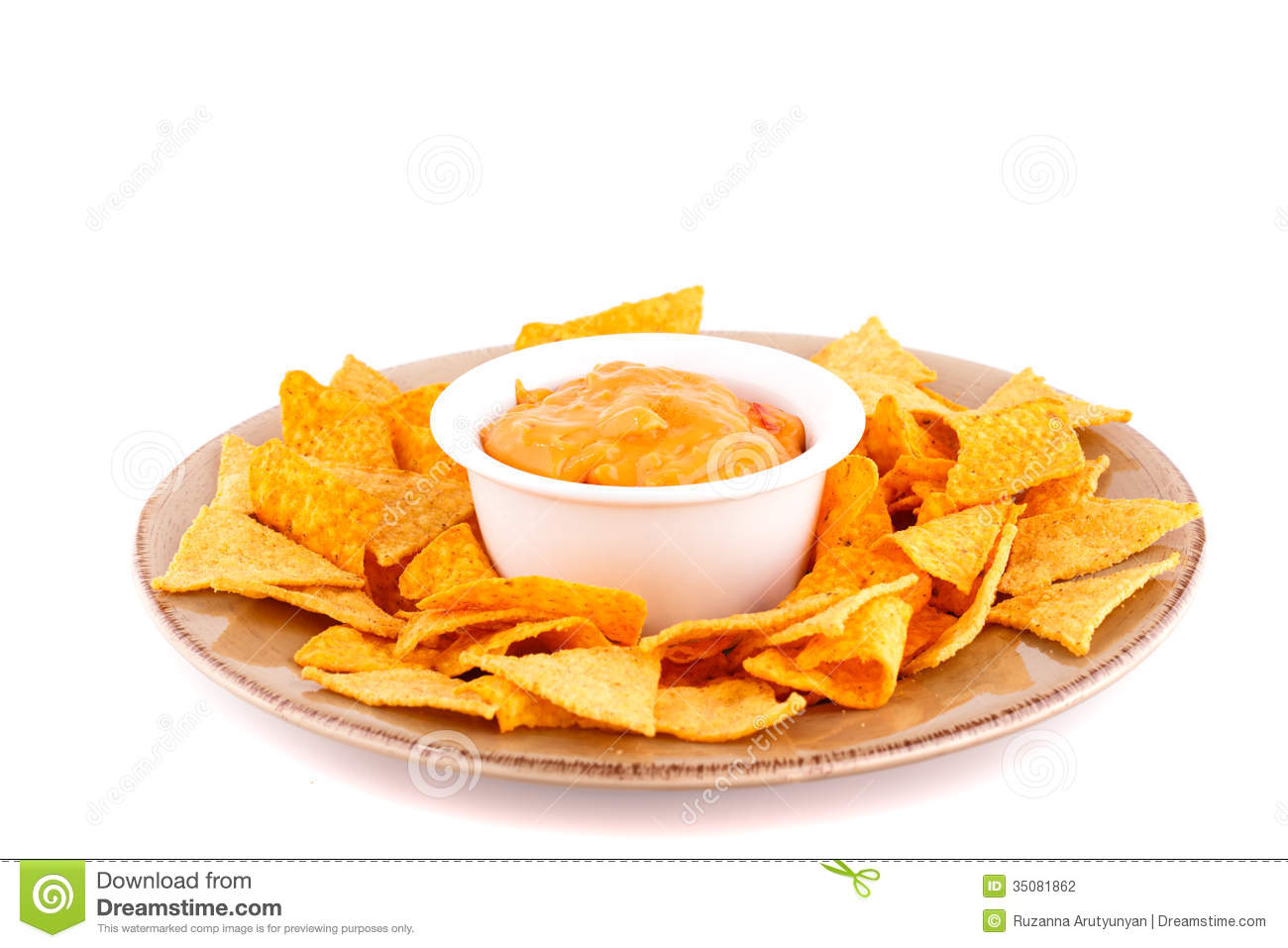 Nachos And Cheese Nachos and cheese sauce on
