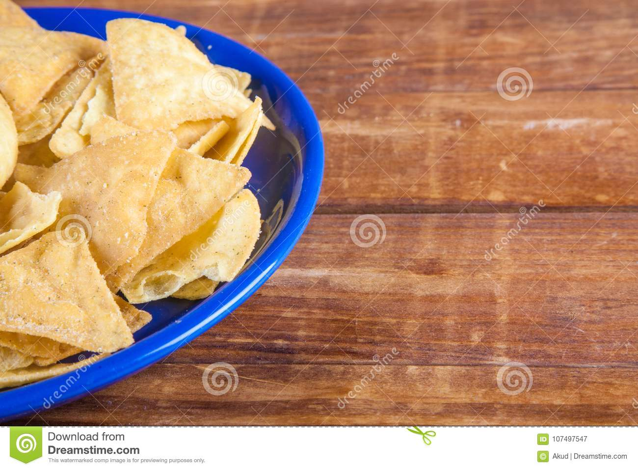 nachos corn chips on wooden talbe stock image image of triangle