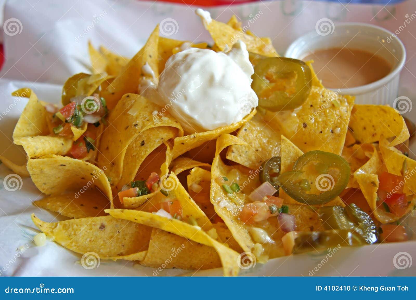Nachos Mexicanos Foto de Stock - Imagem: 4102410