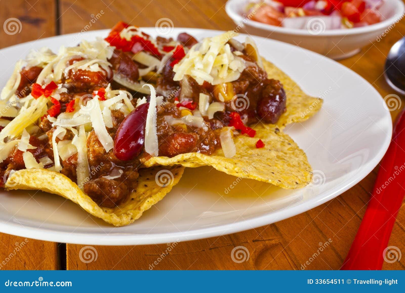 Nachos mexicanos de la carne de vaca