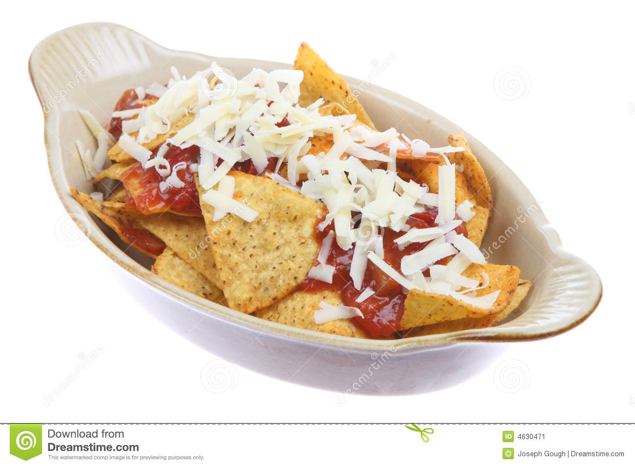 Nachos With Salsa And Cheese Stock Image - Image: 4630471