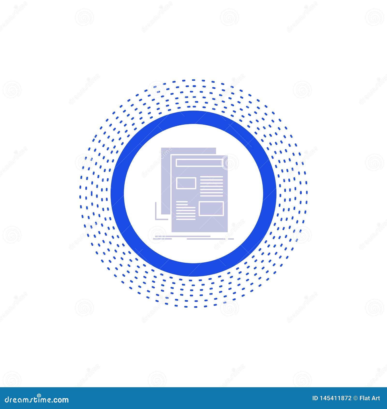 Nachrichten, Newsletter, Zeitung, Medien, Papier Glyph-Ikone Vektor lokalisierte Illustration
