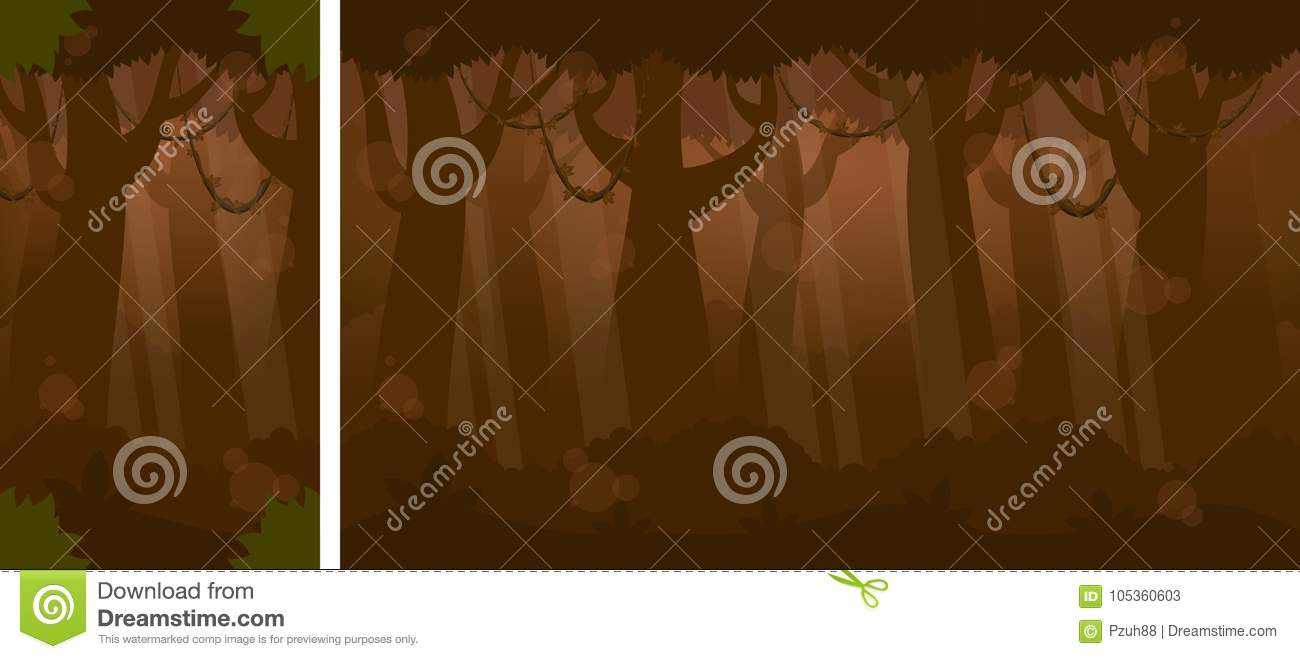 Nacht in Forest Video Game Background