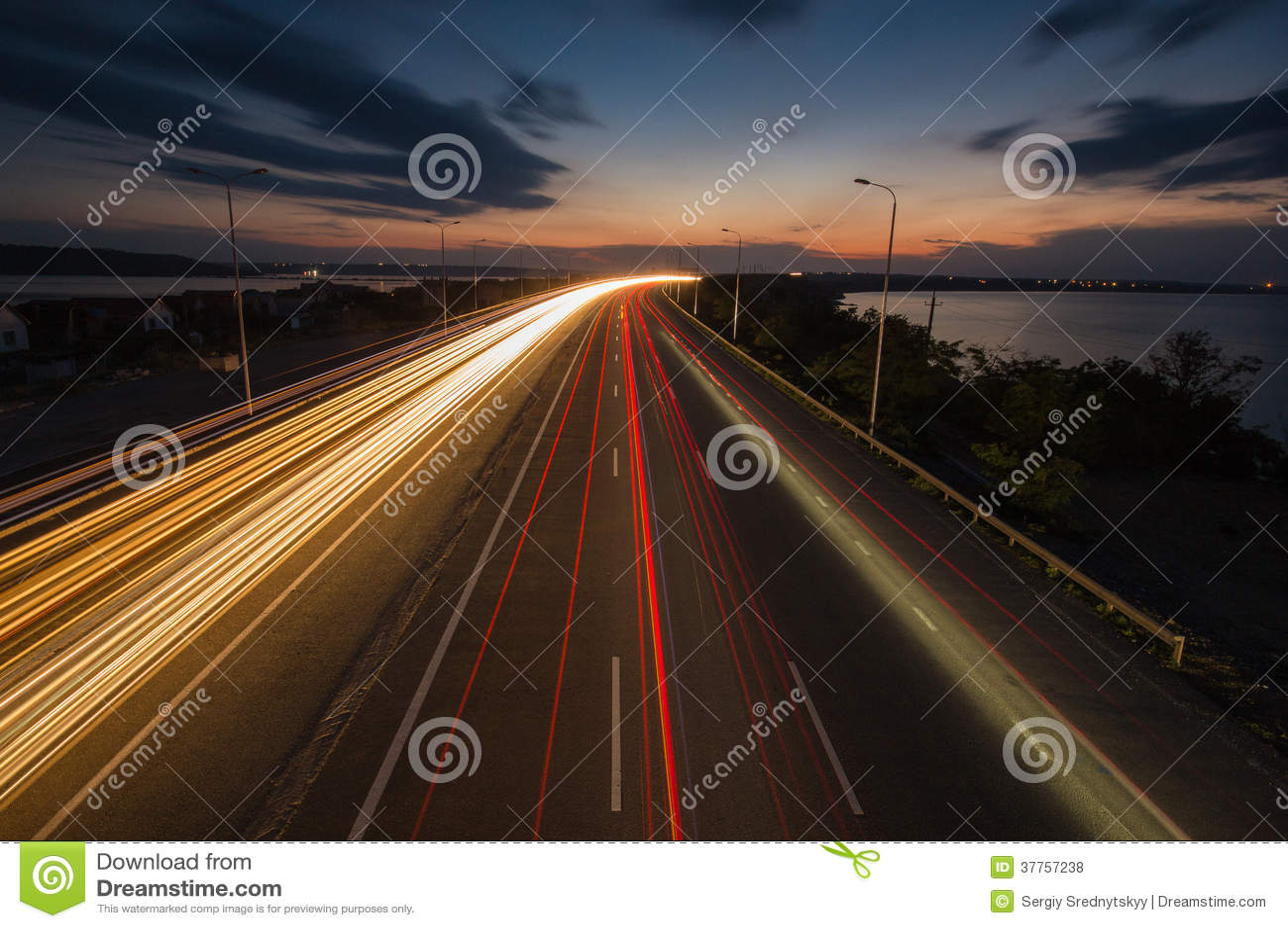 Nachtampeln auf der Autobahn