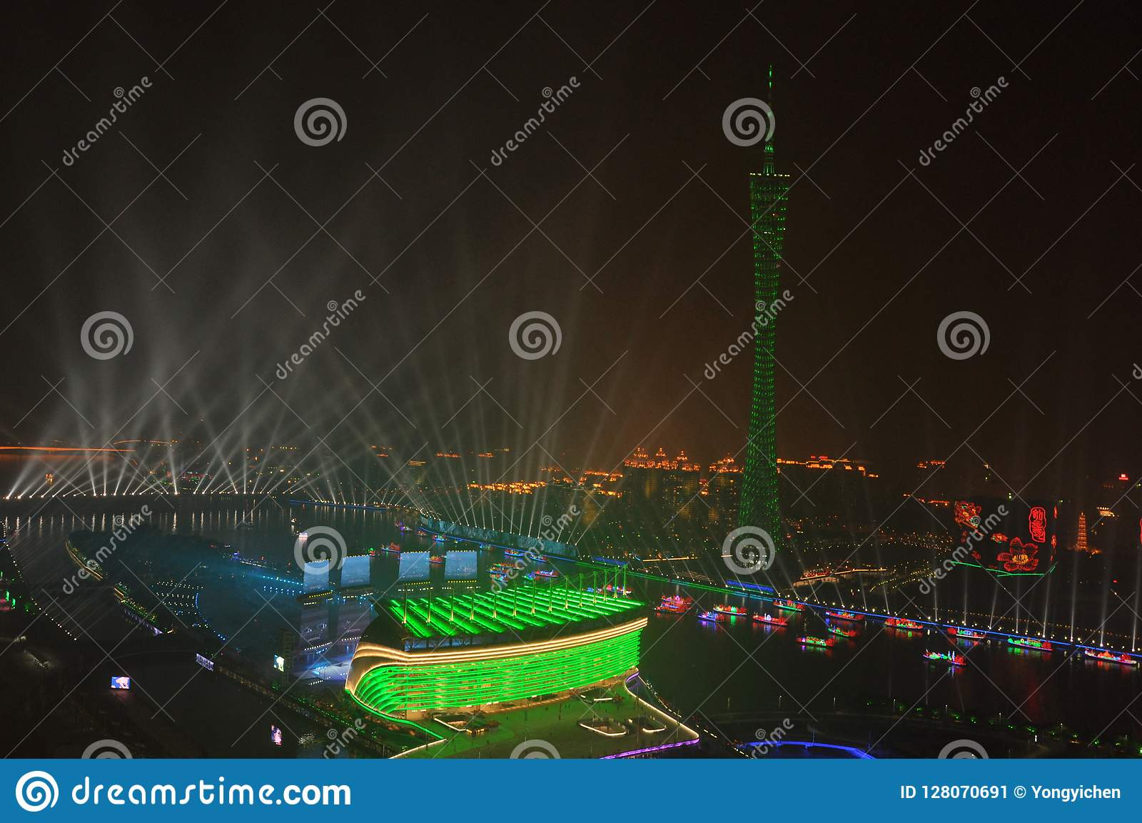 Nachtansicht von Guangzhou China