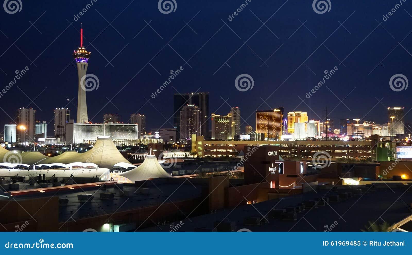 Nachthorizon van Las Vegas, Nevada