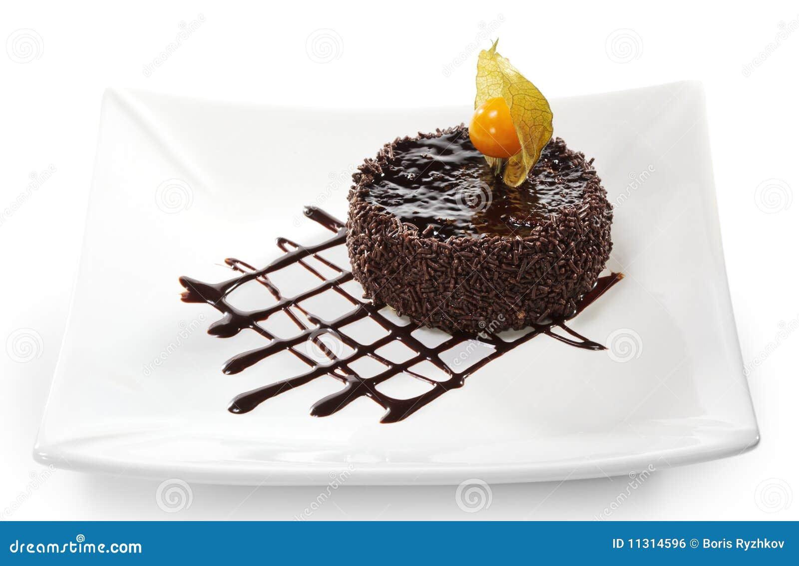 Nachtisch - Schokolade gefrorener Kuchen