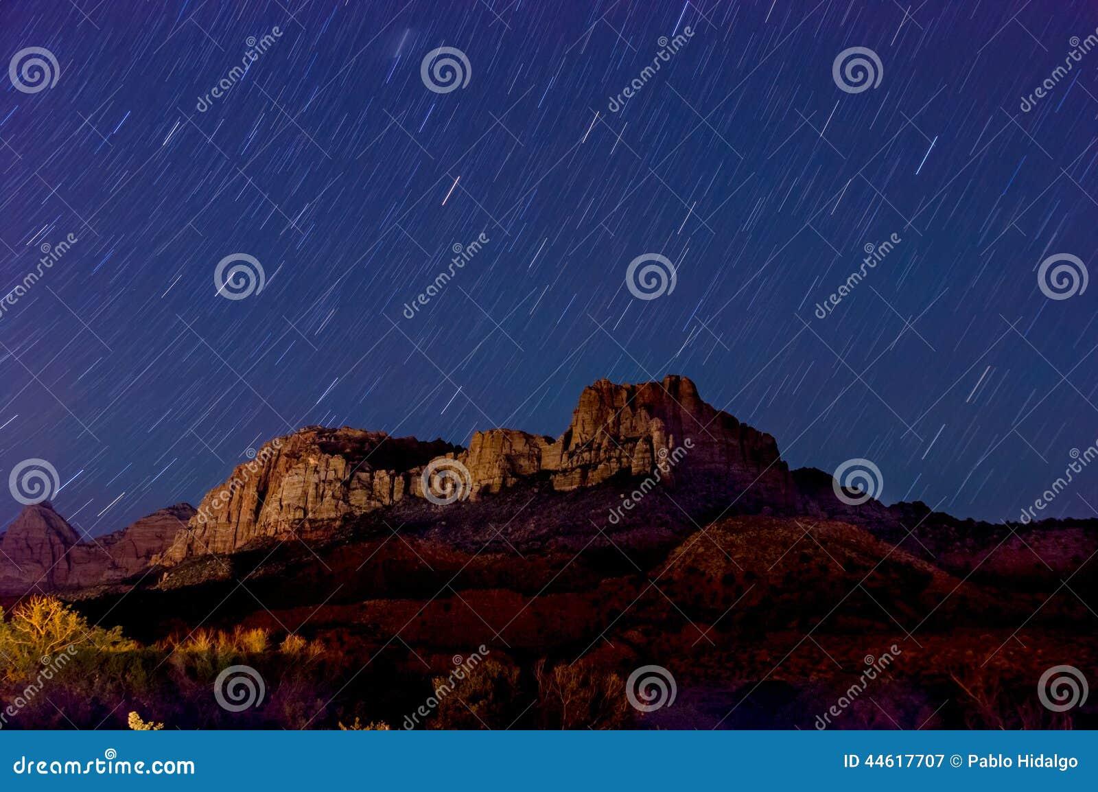Nachtlandschaft in zion Nationalpark