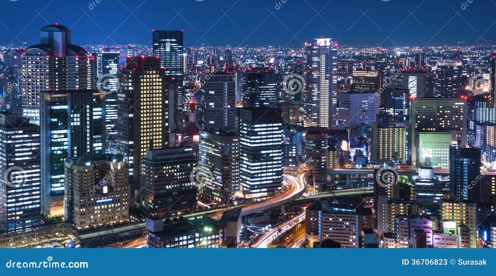 Nachtmening van de stad