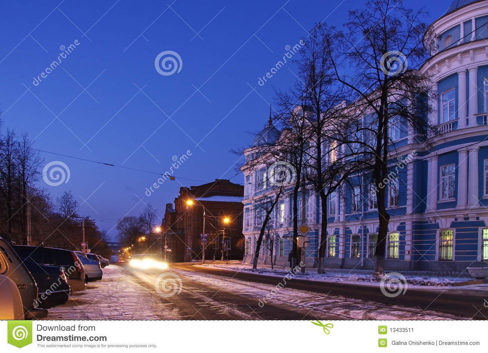 Nachtstadt von Perm