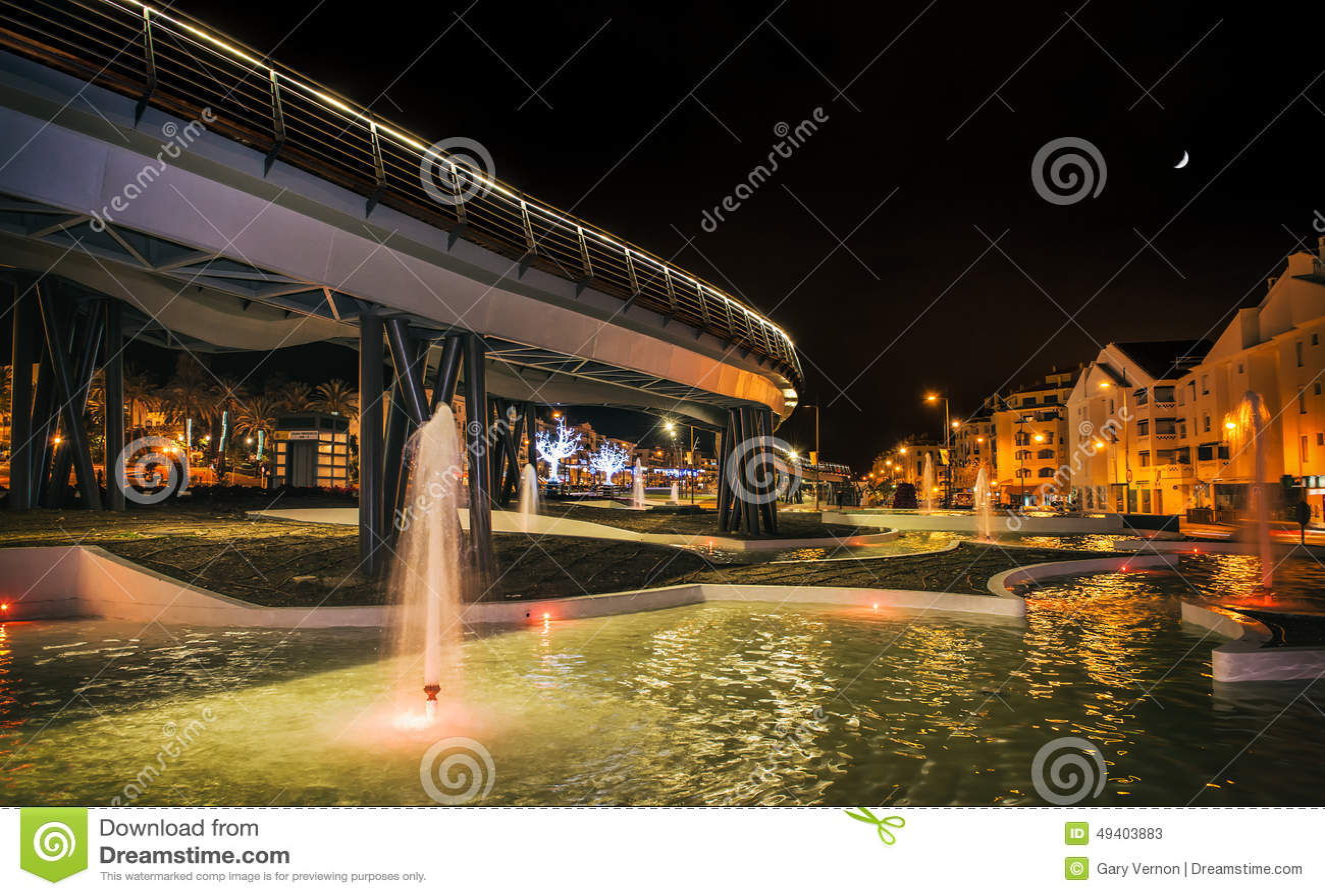 Download Nachtszene Von San Pedro Boulevard Marbella Andalusia Spain Stockbild - Bild von brücke, pedro: 49403883