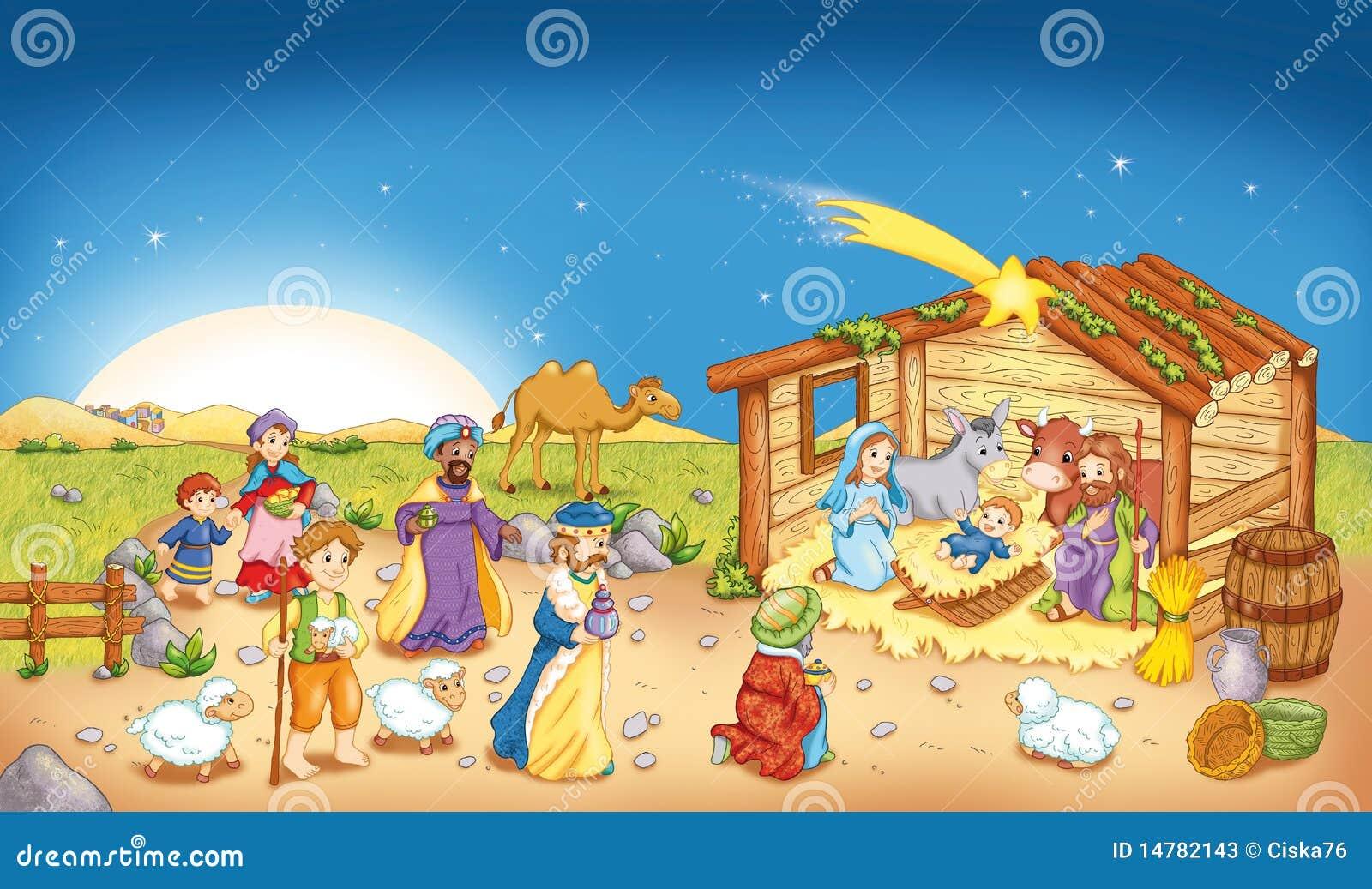 Clipart nacimiento de jesus