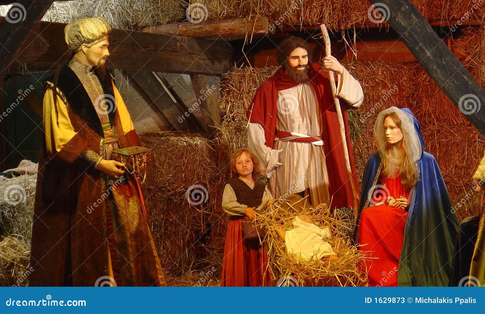 Nacimiento del Jesucristo imagen de archivo. Imagen de crucifix ...