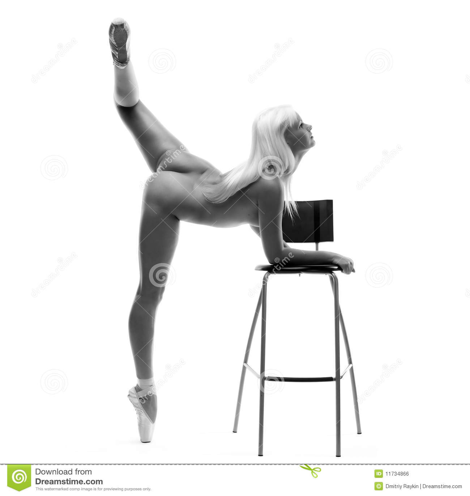 Nackte Ballerina