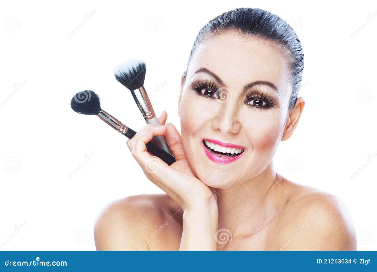 Nackte Frau trägt Hand auf stockfoto. Bild von trägt