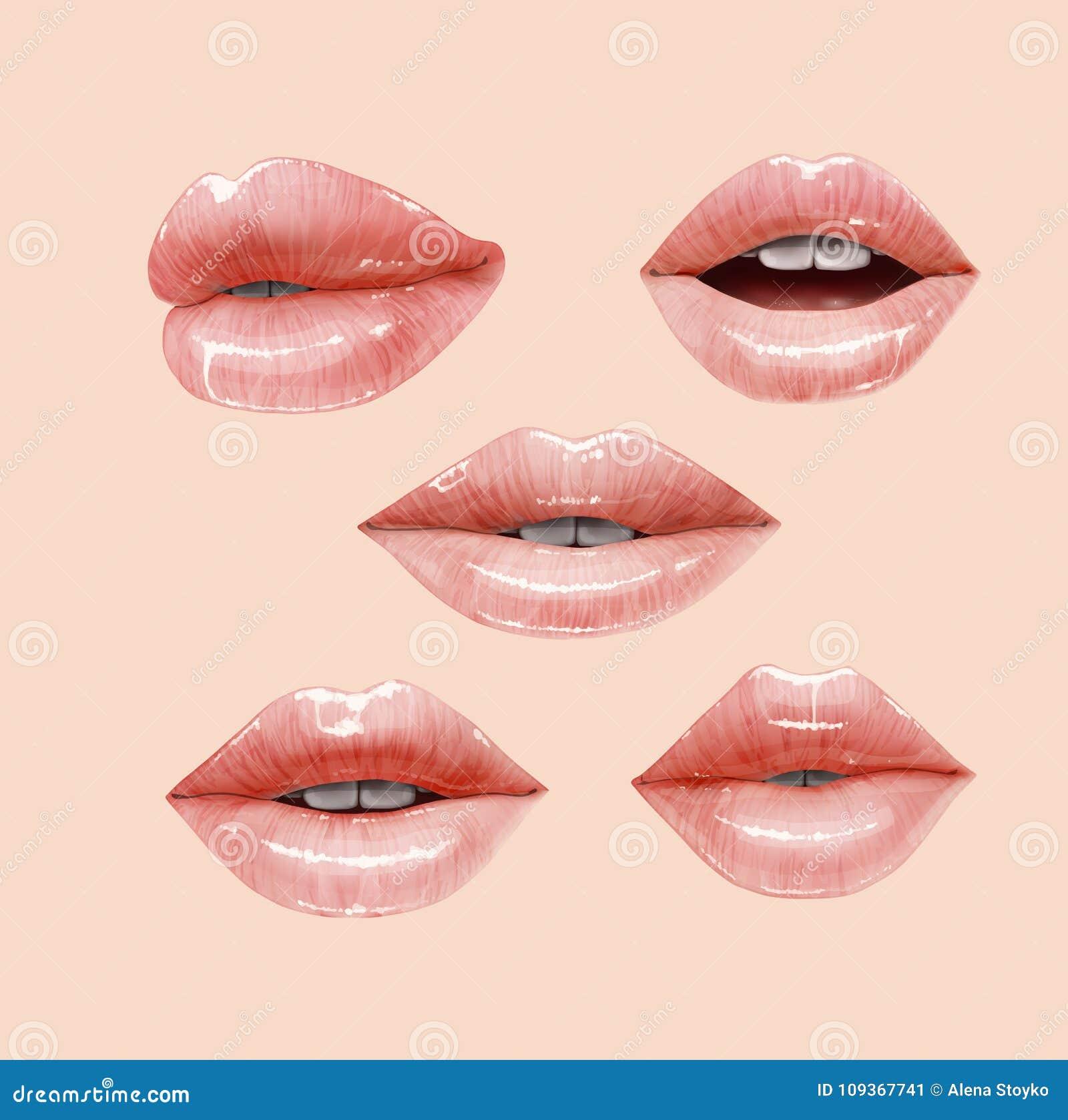 nackte lippen