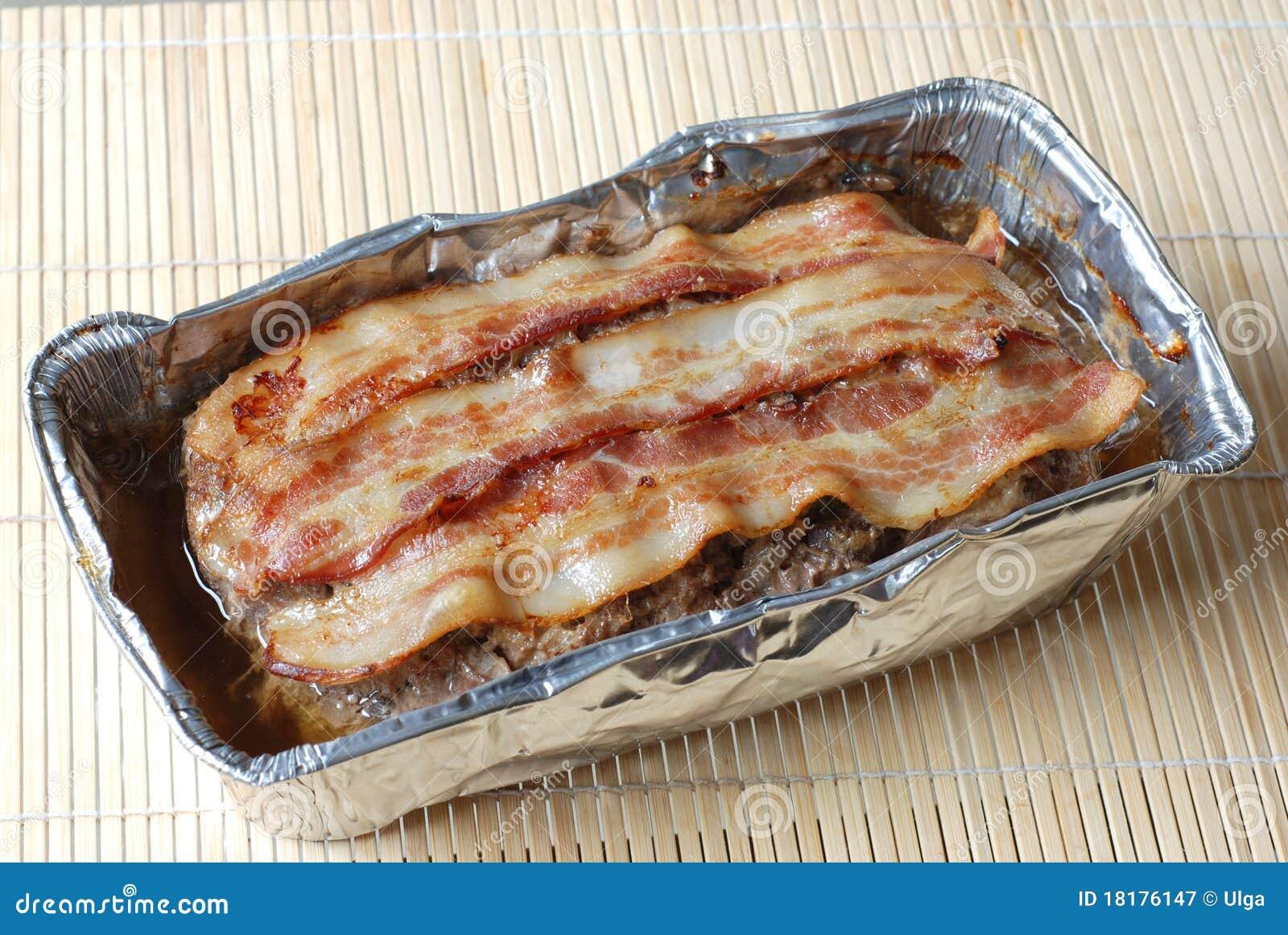 Naco de carne com bacon
