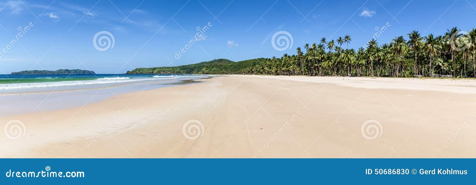 Download Nacpan海滩全景 库存照片. 图片 包括有 结算, 北部, 掌上型计算机, 天堂, 空白, 结构树, 火箭筒 - 50686830