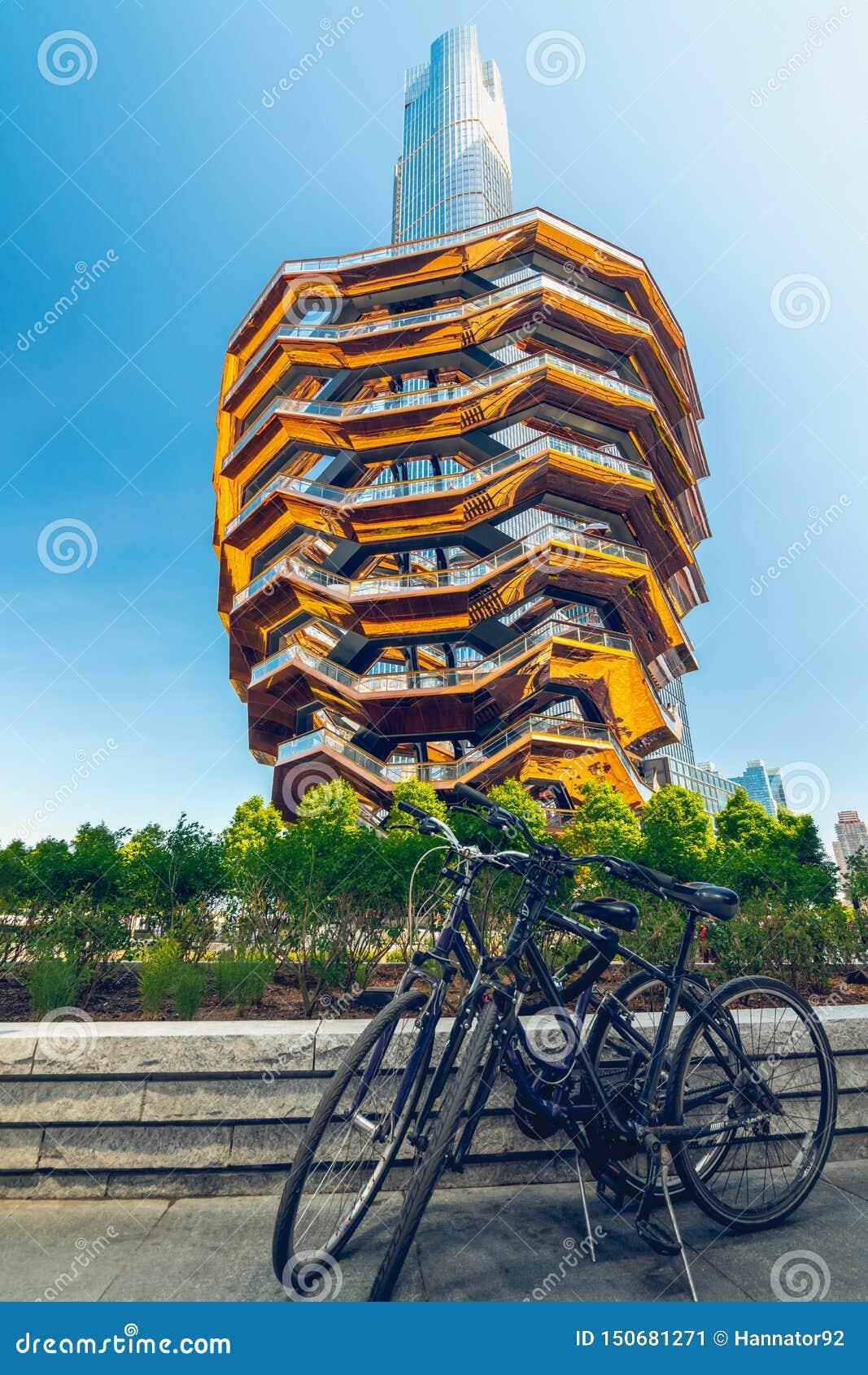 Naczynie, Nowożytna budowa, Centerpiece Hudson jardy, Miasto Nowy Jork