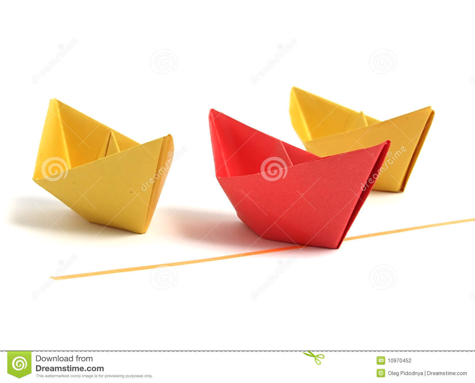 Nad biel łódkowaty origami