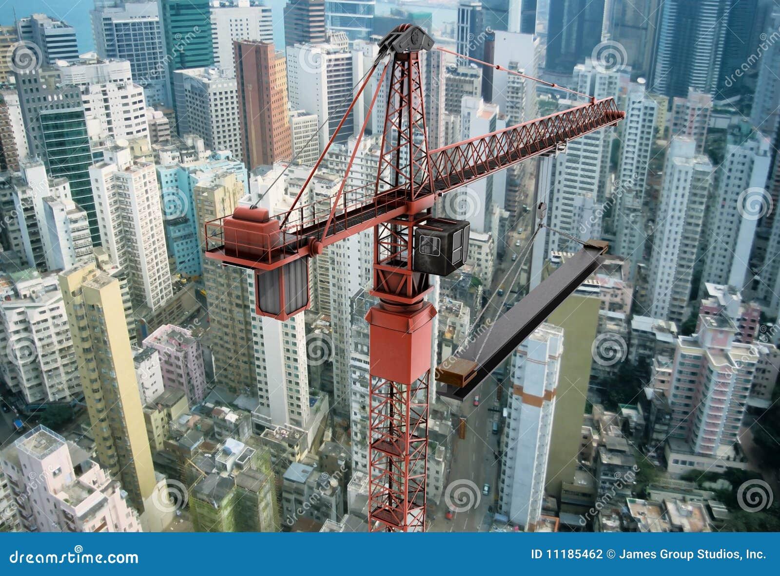 Nad budowa żuraw