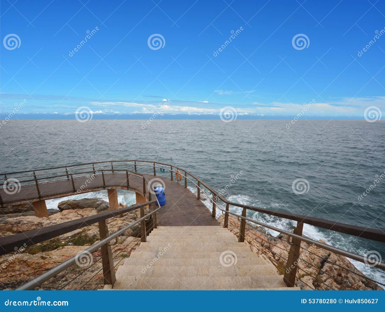 Nad widok falezy Cyclades Greece wyspy wysp Oia santorini morza widok