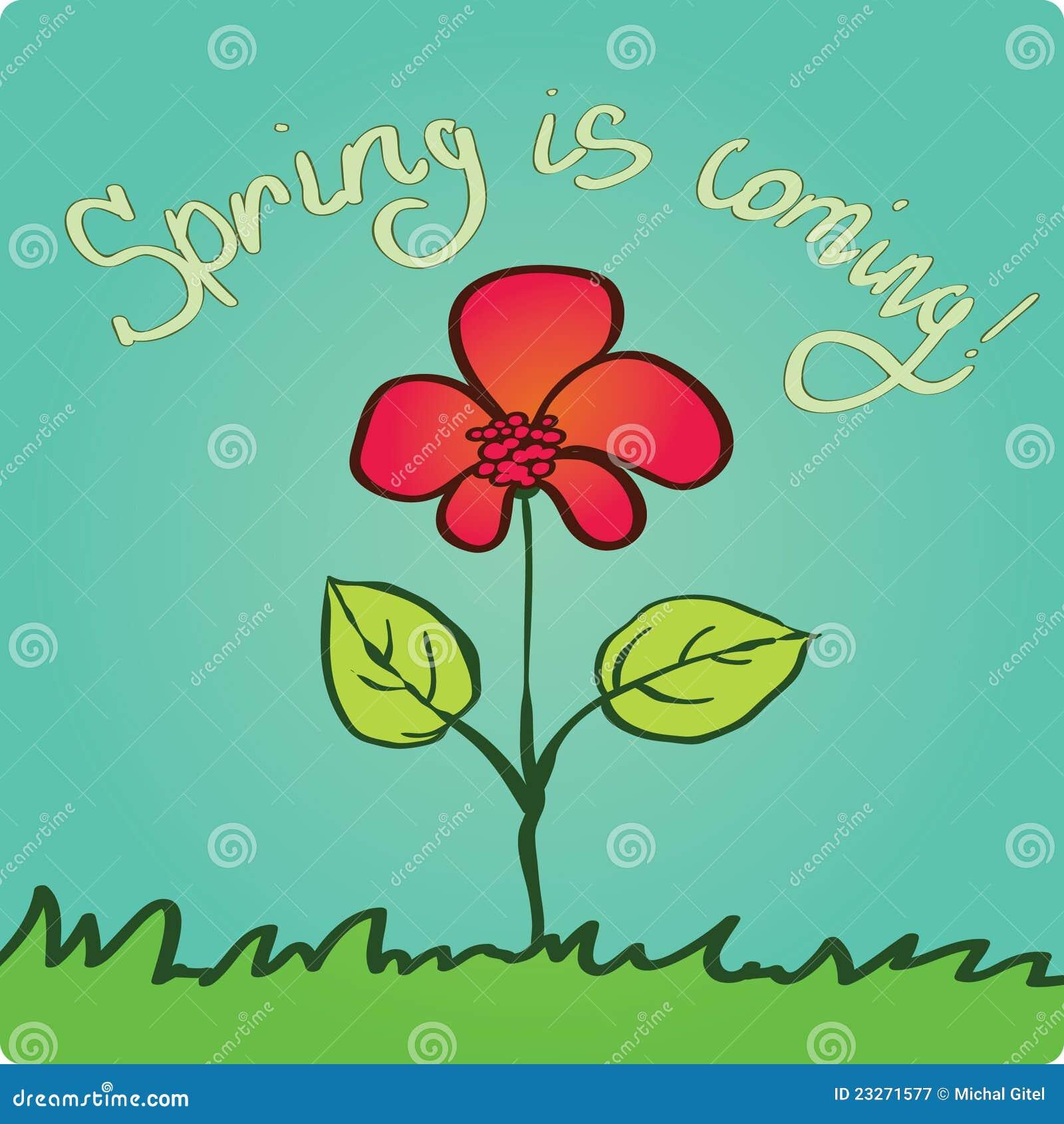 Nadchodząca wiosna
