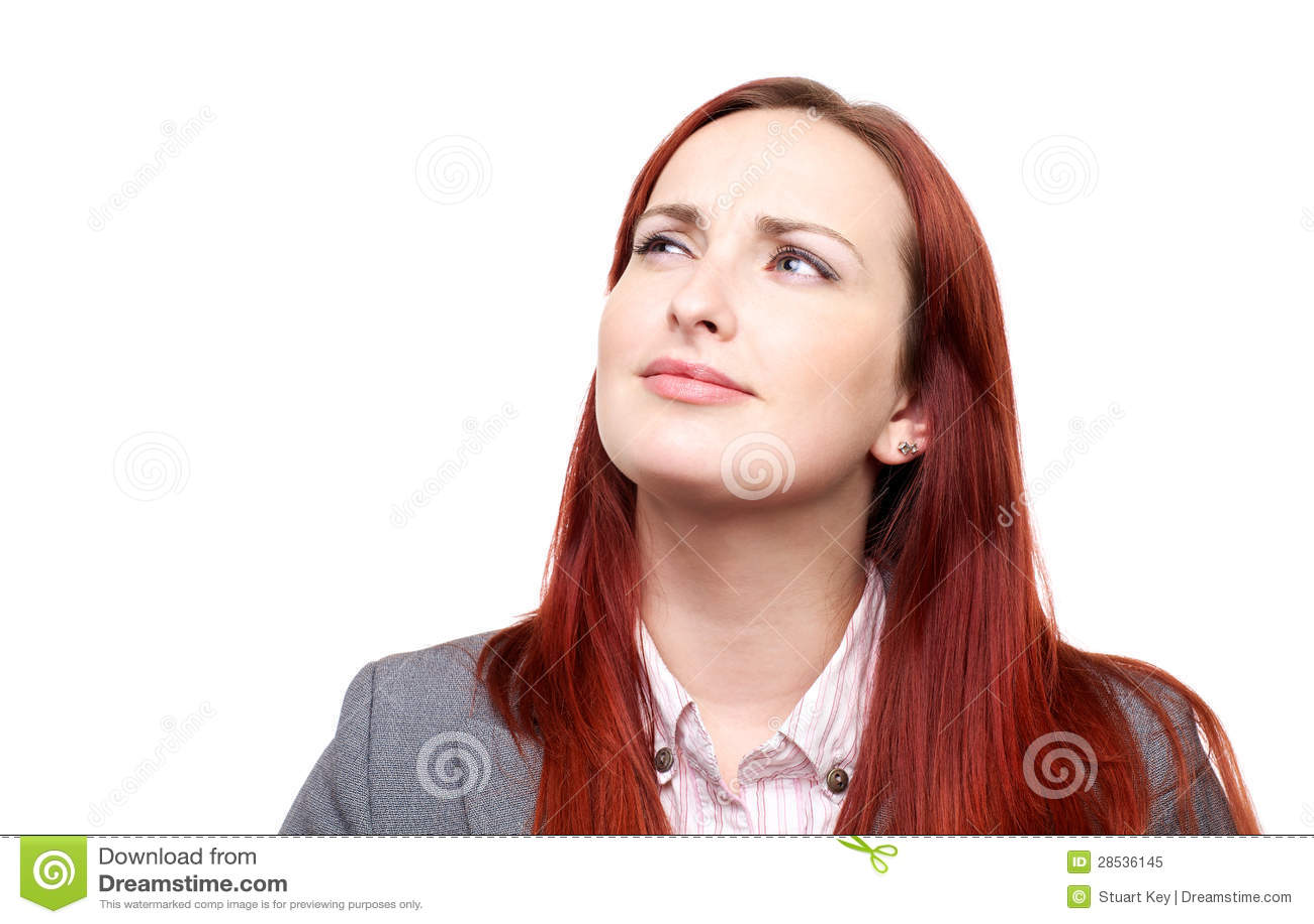 Nadenkende vrouw met frown