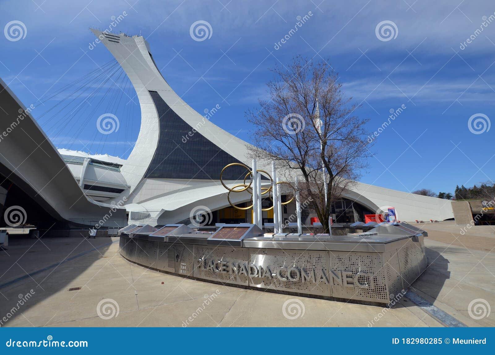 Nadia Comaneci Place Near The Olympic Stadium Editorial